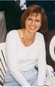 Bei einer Firmenfeier in den 90er Jahren