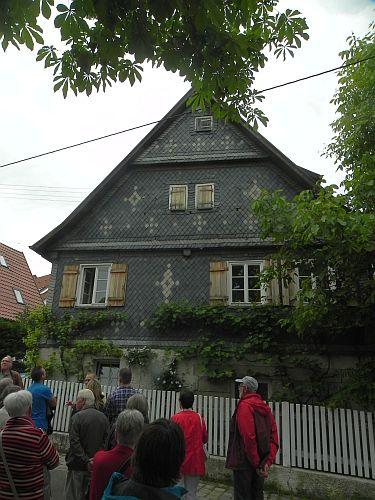 Haus mit Schieferfassade