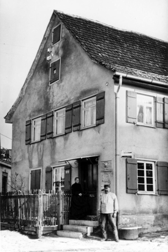 Der erste Konsum um 1910. Foto: Stadtarchiv Ostfildern
