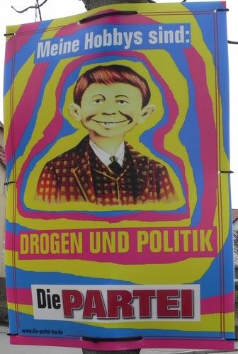Wahlplakat von DIE PARTEI